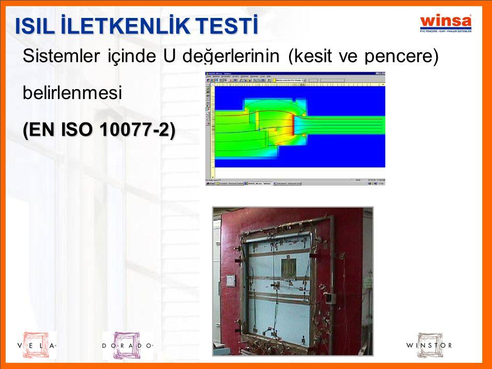 ISIL İLETKENLİK TESTİ Sistemler içinde U değerlerinin (kesit ve pencere) belirlenmesi.