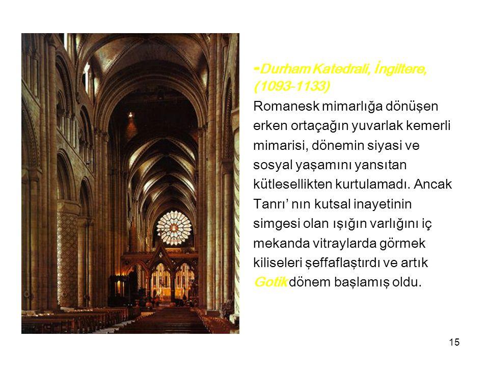 -Durham Katedrali, İngiltere,