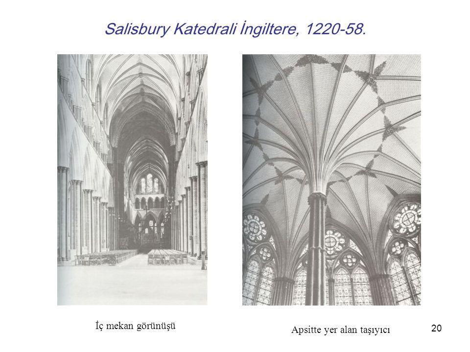 Salisbury Katedrali İngiltere, 1220-58.