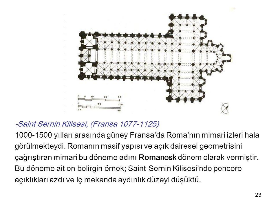 -Saint Sernin Kilisesi, (Fransa 1077-1125)