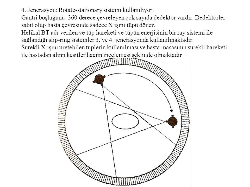 4. Jenerasyon: Rotate-stationary sistemi kullanılıyor
