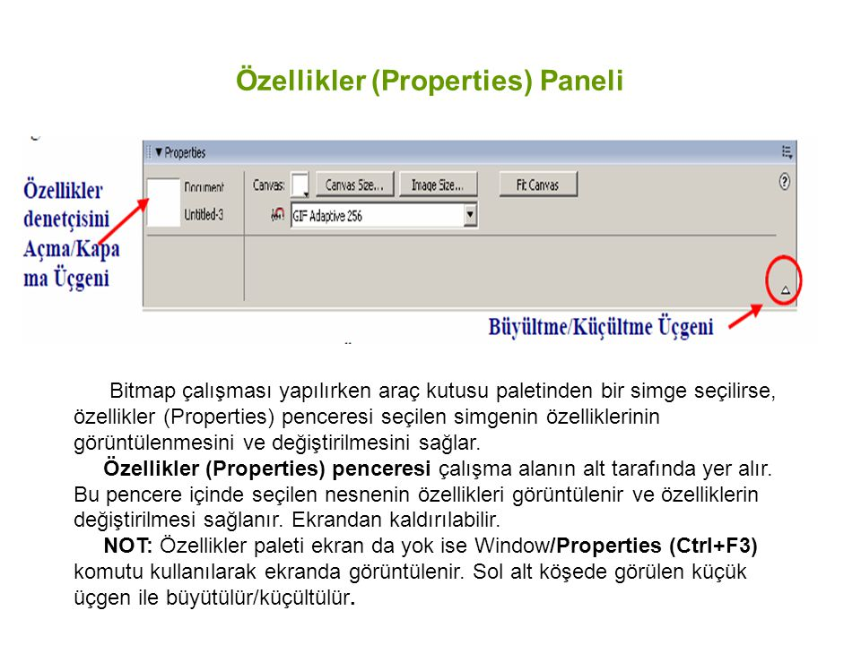 Özellikler (Properties) Paneli