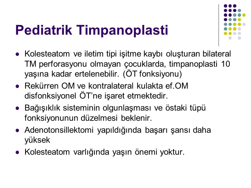 Pediatrik Timpanoplasti