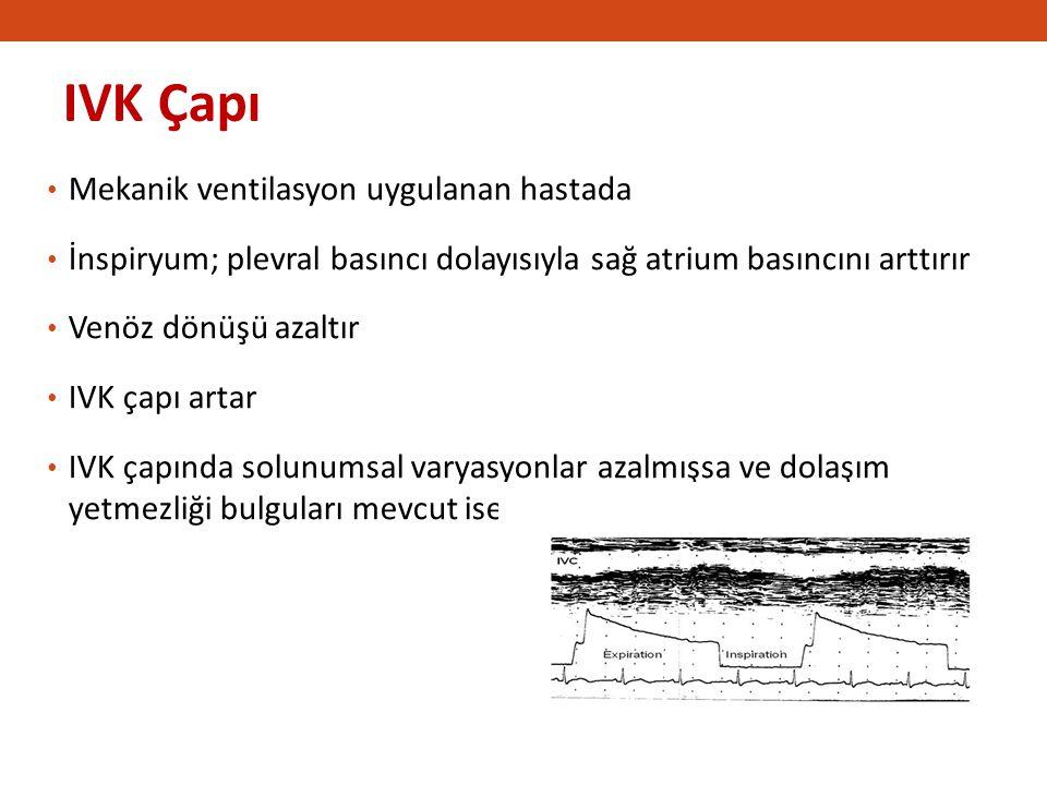 IVK Çapı Mekanik ventilasyon uygulanan hastada
