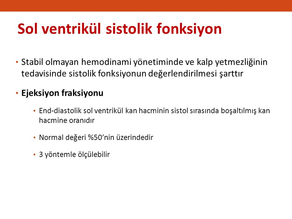Sol ventrikül sistolik fonksiyon