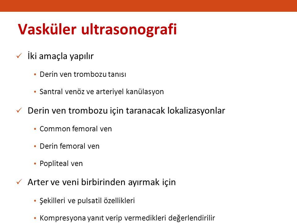 Vasküler ultrasonografi