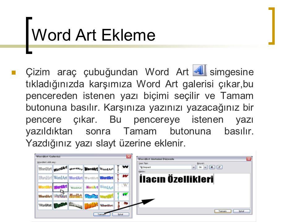Word Art Ekleme