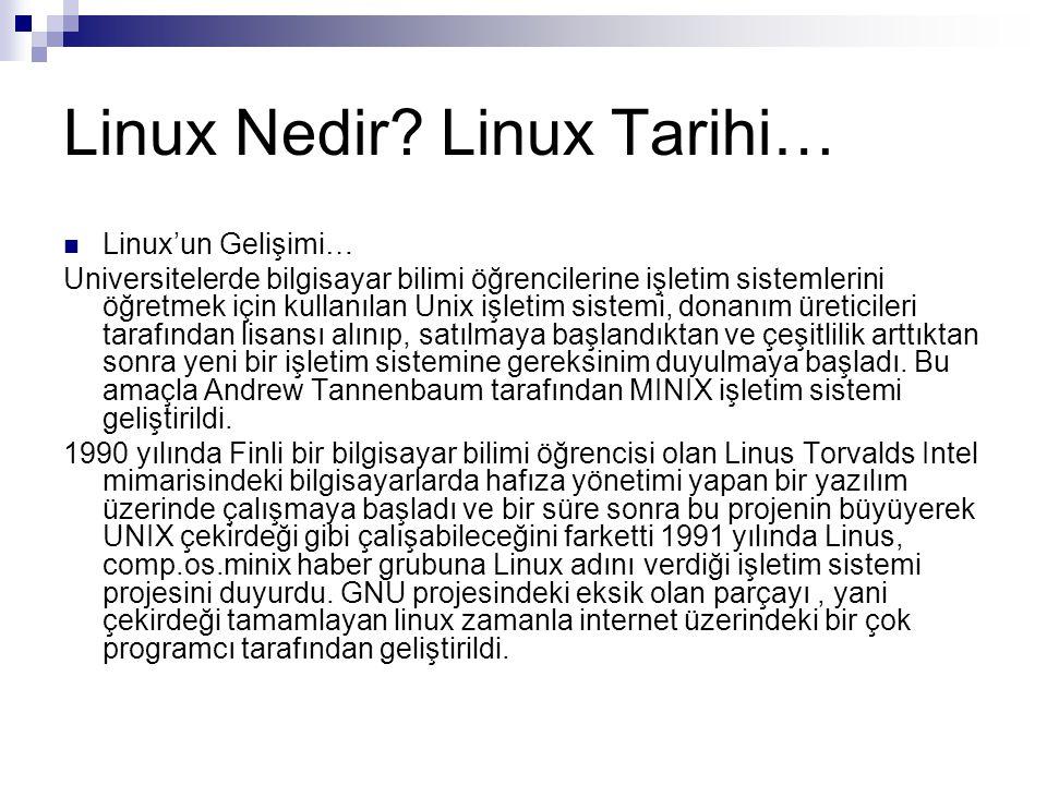 Linux Nedir Linux Tarihi…