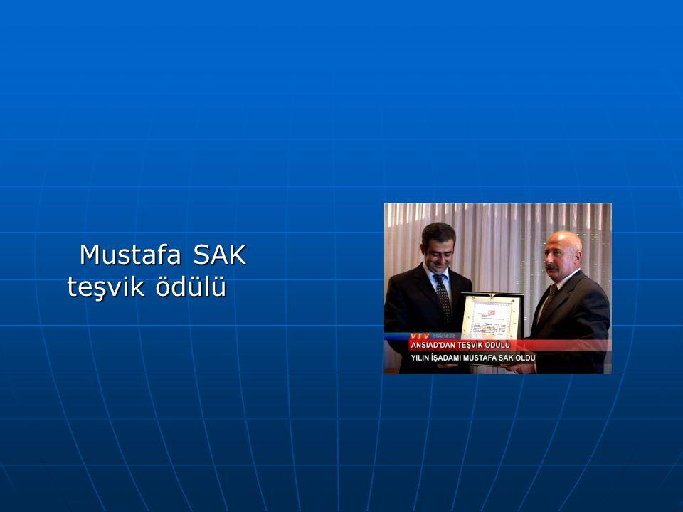 Mustafa SAK teşvik ödülü
