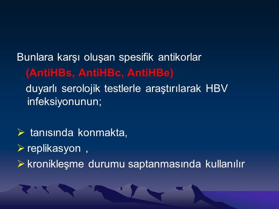 Bunlara karşı oluşan spesifik antikorlar