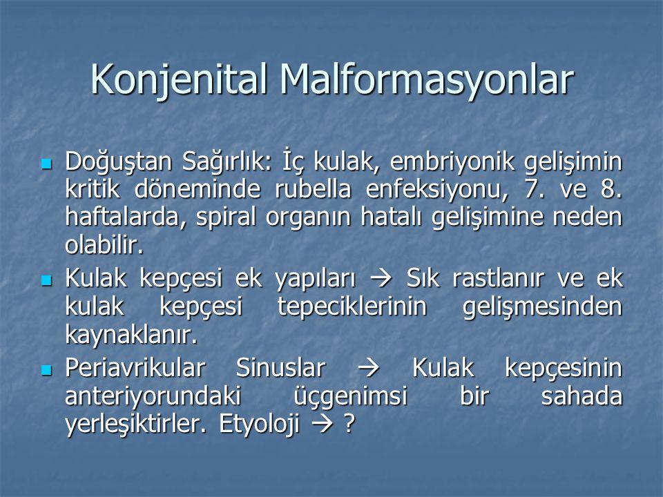 Konjenital Malformasyonlar