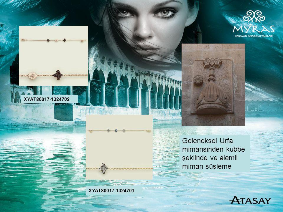 Geleneksel Urfa mimarisinden kubbe şeklinde ve alemli mimari süsleme