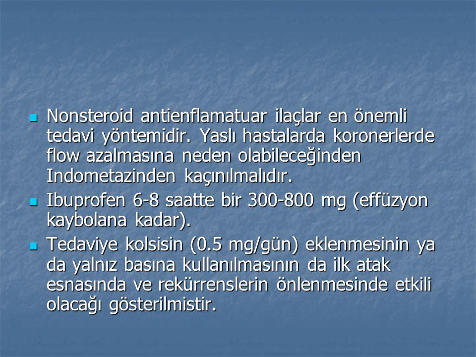 Nonsteroid antienflamatuar ilaçlar en önemli tedavi yöntemidir