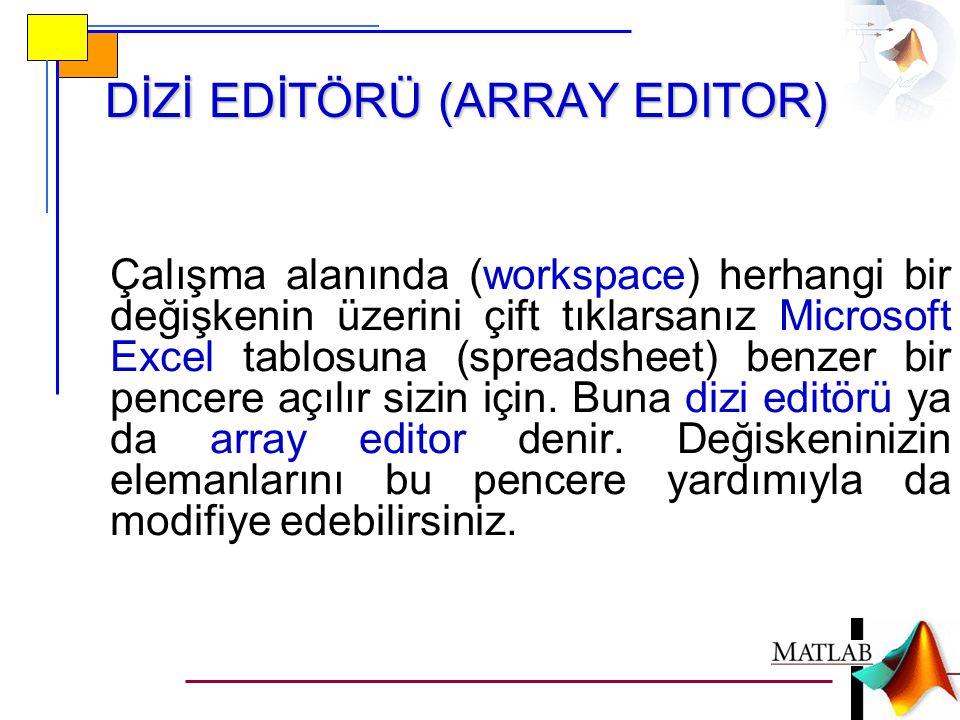 DİZİ EDİTÖRÜ (ARRAY EDITOR)