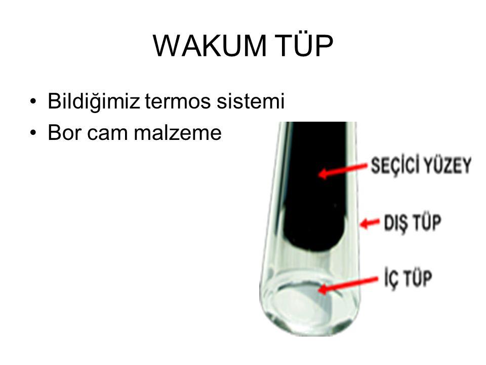 WAKUM TÜP Bildiğimiz termos sistemi Bor cam malzeme