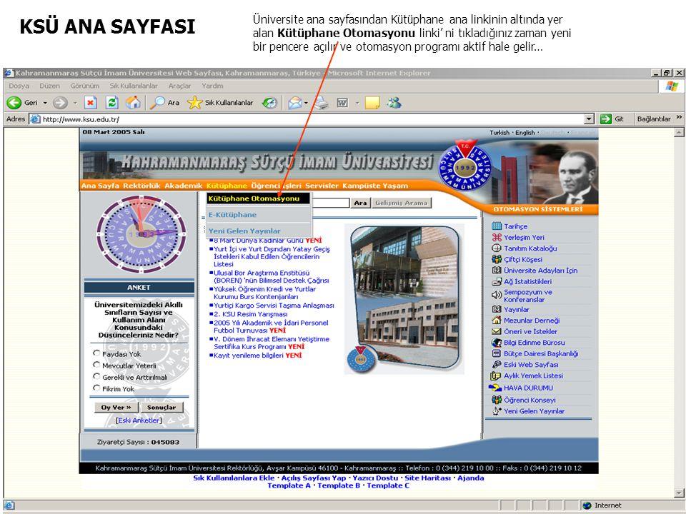 KSÜ ANA SAYFASI