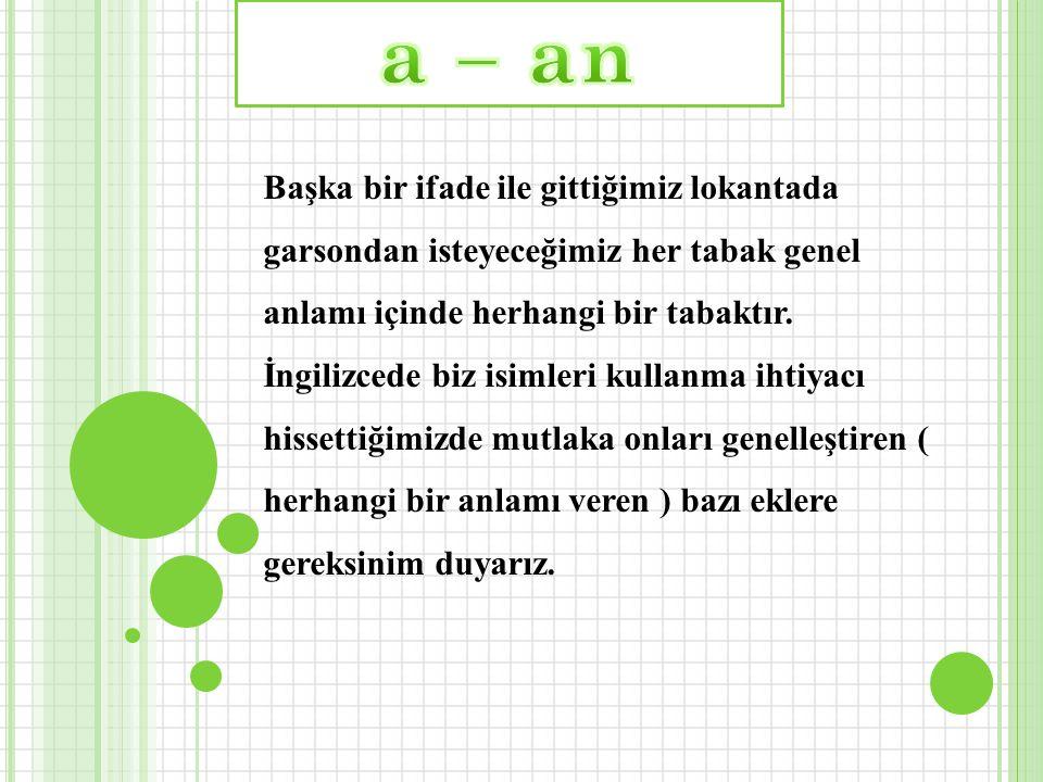 a – an