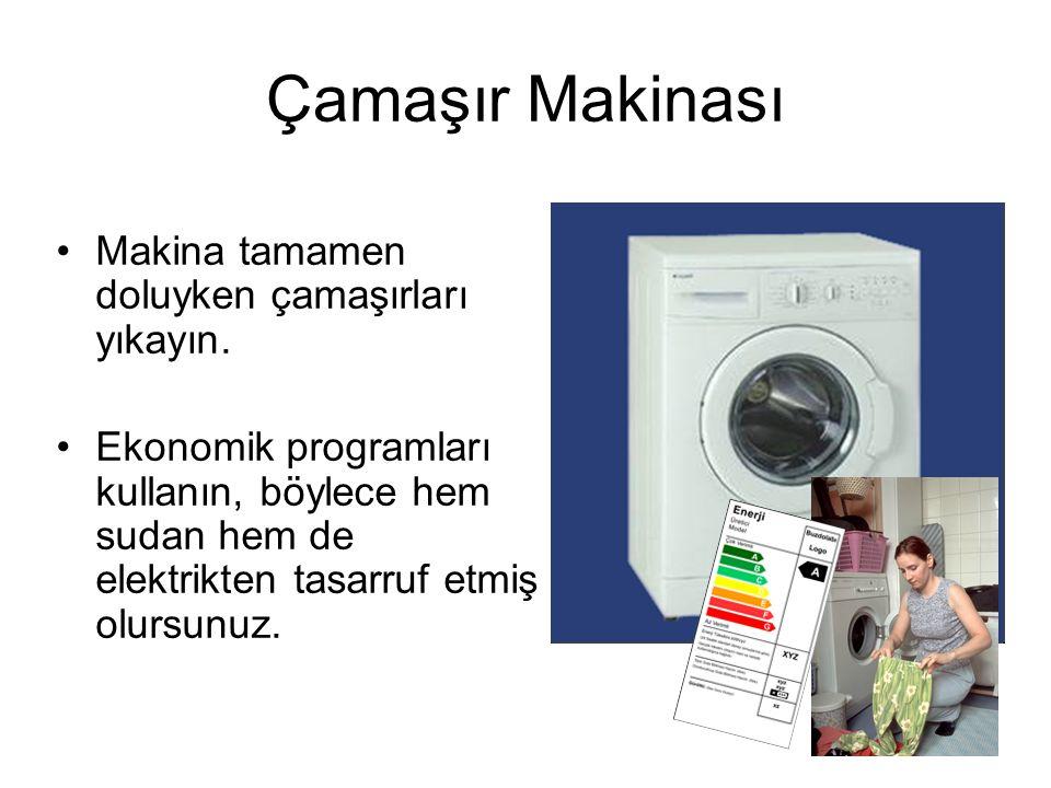 Çamaşır Makinası Makina tamamen doluyken çamaşırları yıkayın.