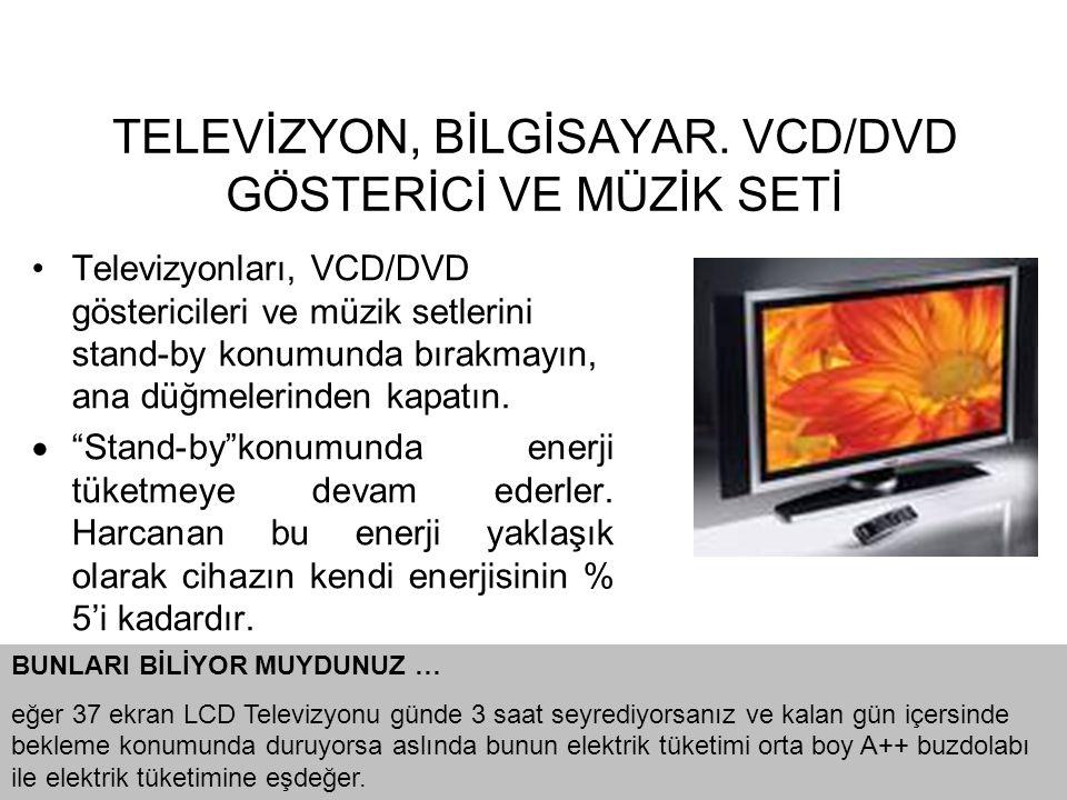 TELEVİZYON, BİLGİSAYAR. VCD/DVD GÖSTERİCİ VE MÜZİK SETİ