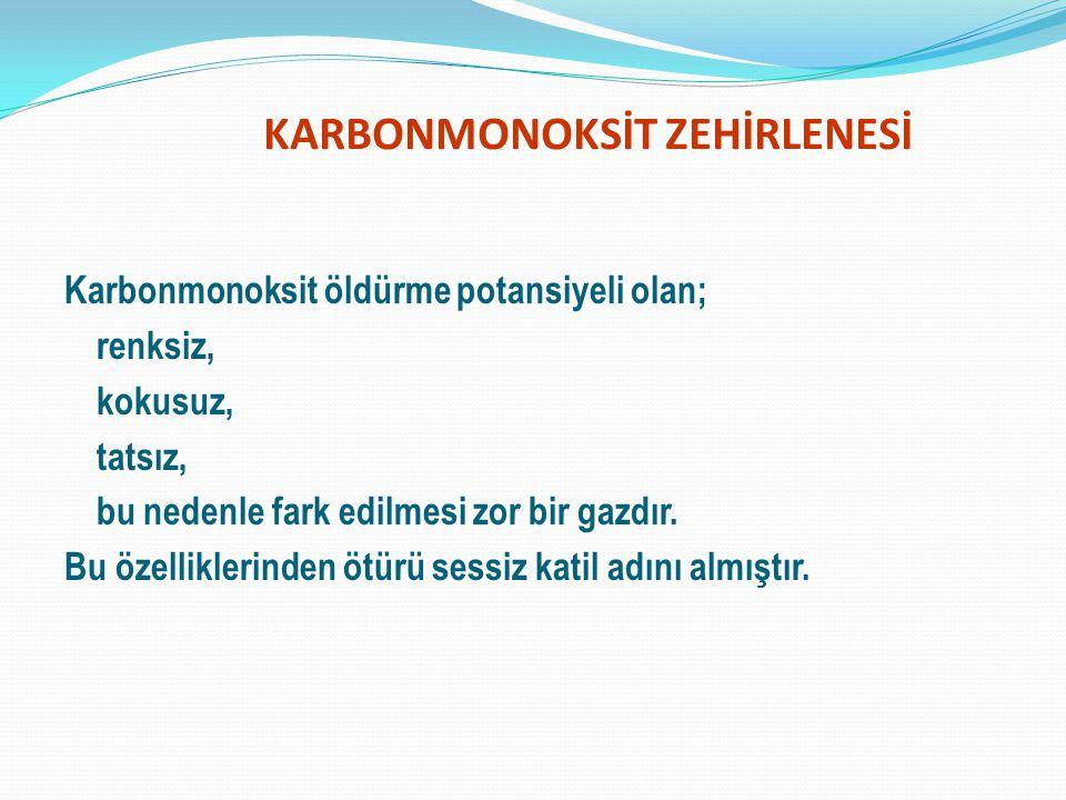 KARBONMONOKSİT ZEHİRLENESİ