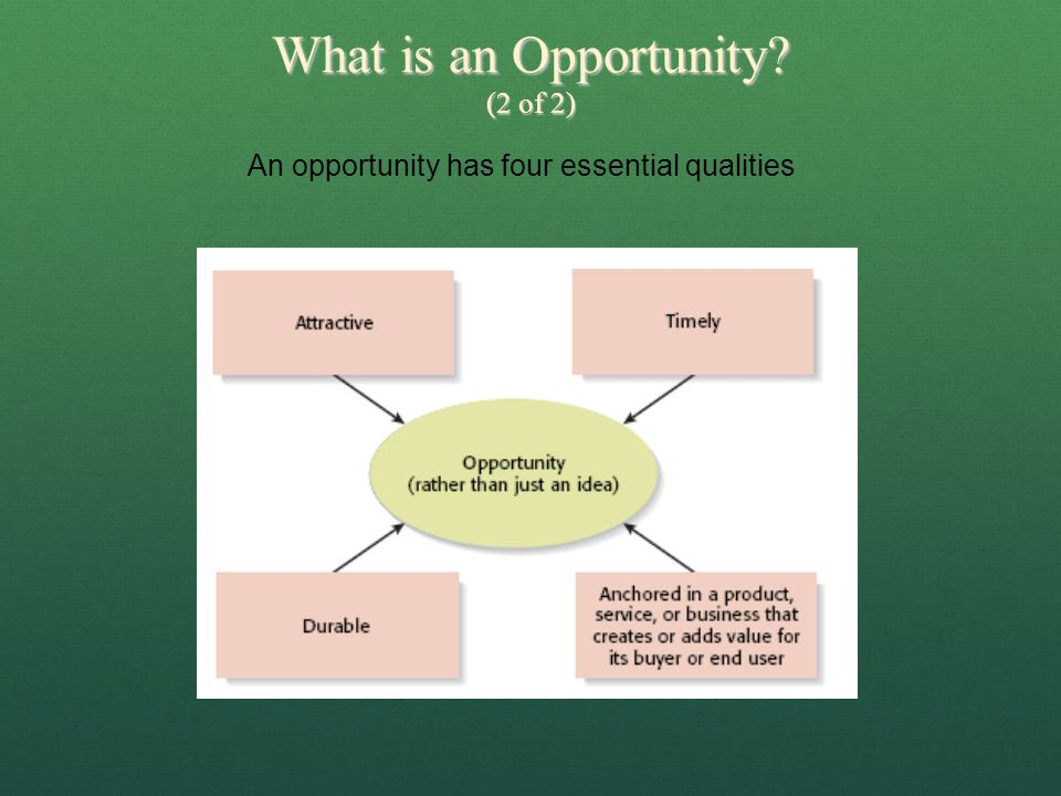 What is an Opportunity (2 of 2)
