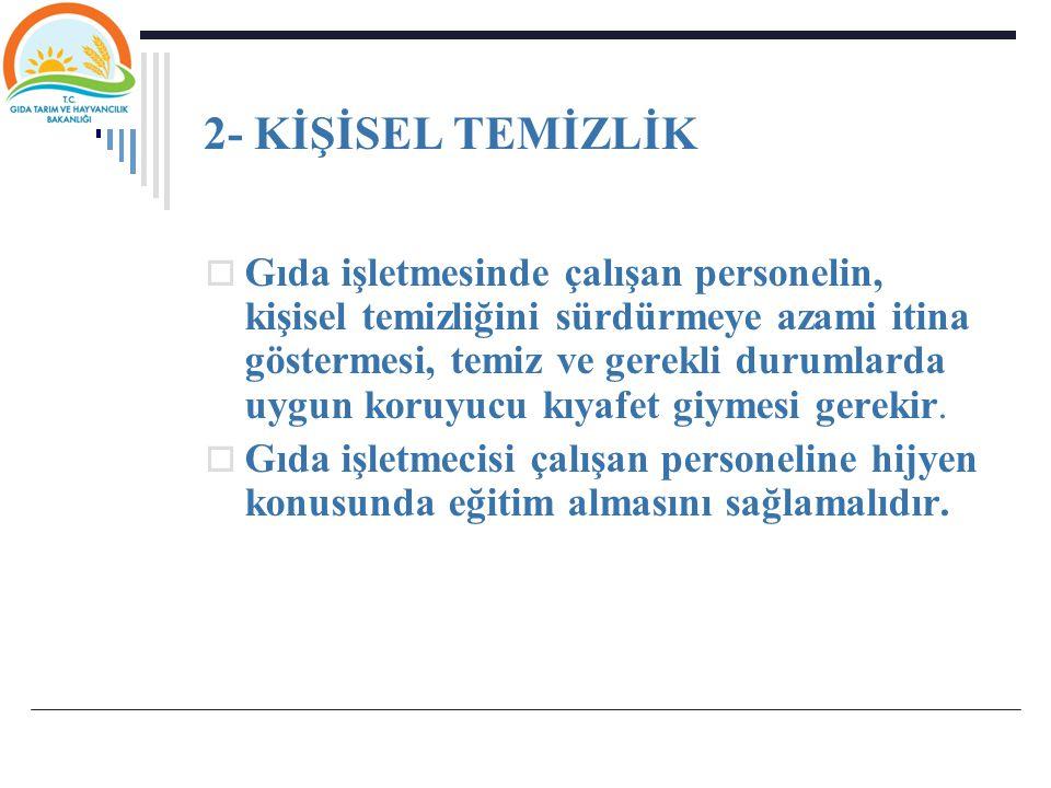 2- KİŞİSEL TEMİZLİK