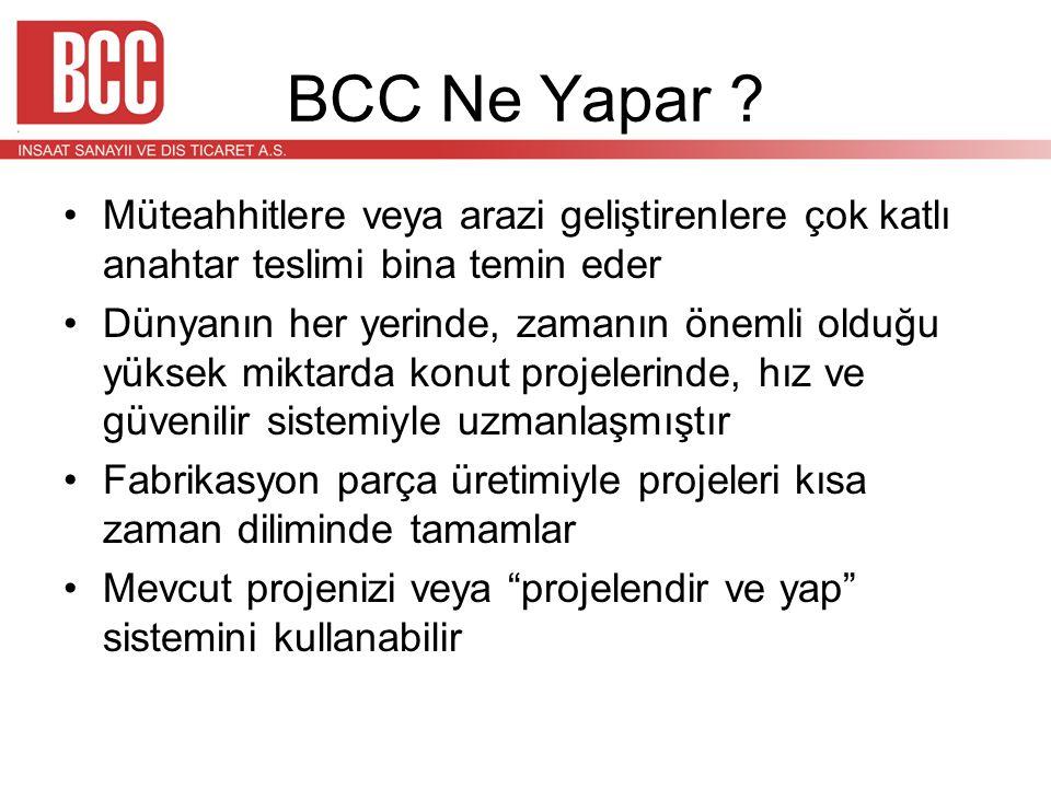 BCC Ne Yapar Müteahhitlere veya arazi geliştirenlere çok katlı anahtar teslimi bina temin eder.