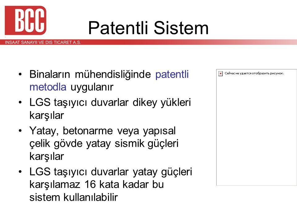 Patentli Sistem Binaların mühendisliğinde patentli metodla uygulanır