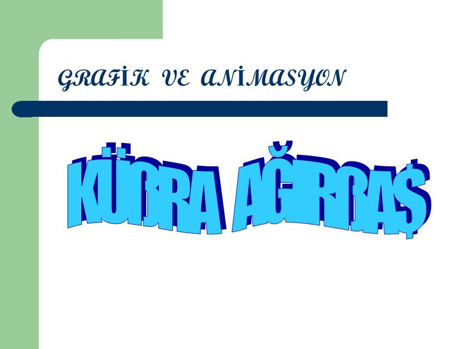 GRAFİK VE ANİMASYON KÜßRA AĞIRßA$