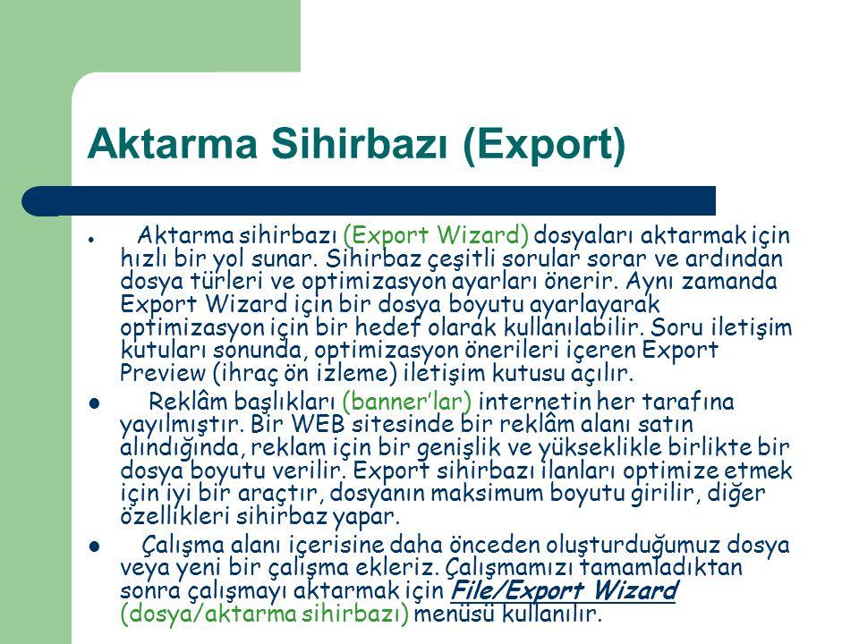 Aktarma Sihirbazı (Export)