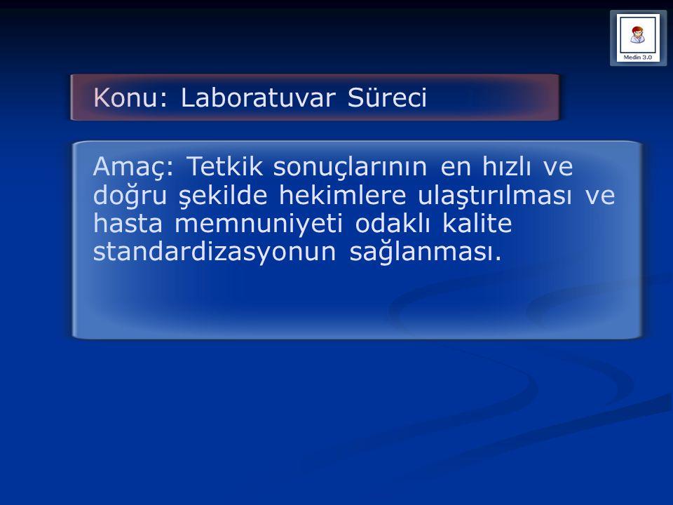 Konu: Laboratuvar Süreci