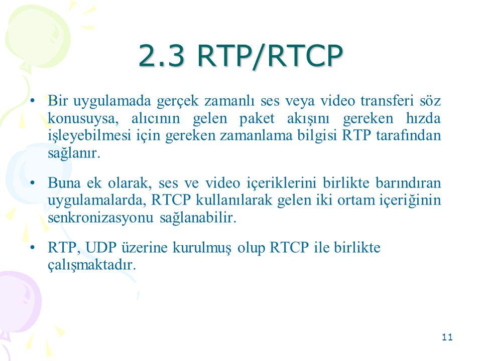 2.3 RTP/RTCP