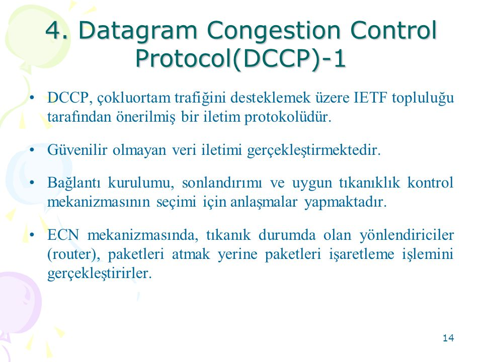 4. Datagram Congestion Control Protocol(DCCP)-1