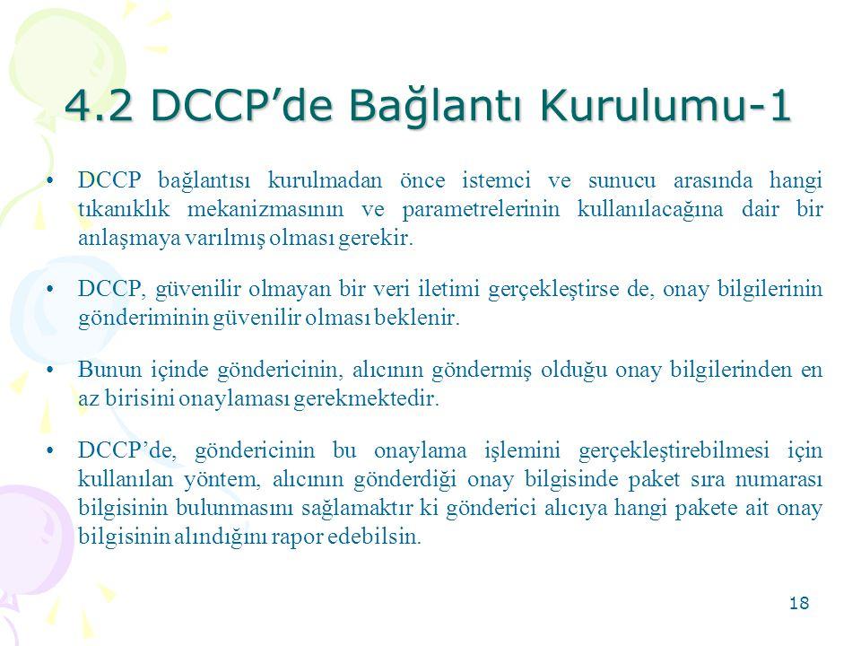 4.2 DCCP'de Bağlantı Kurulumu-1