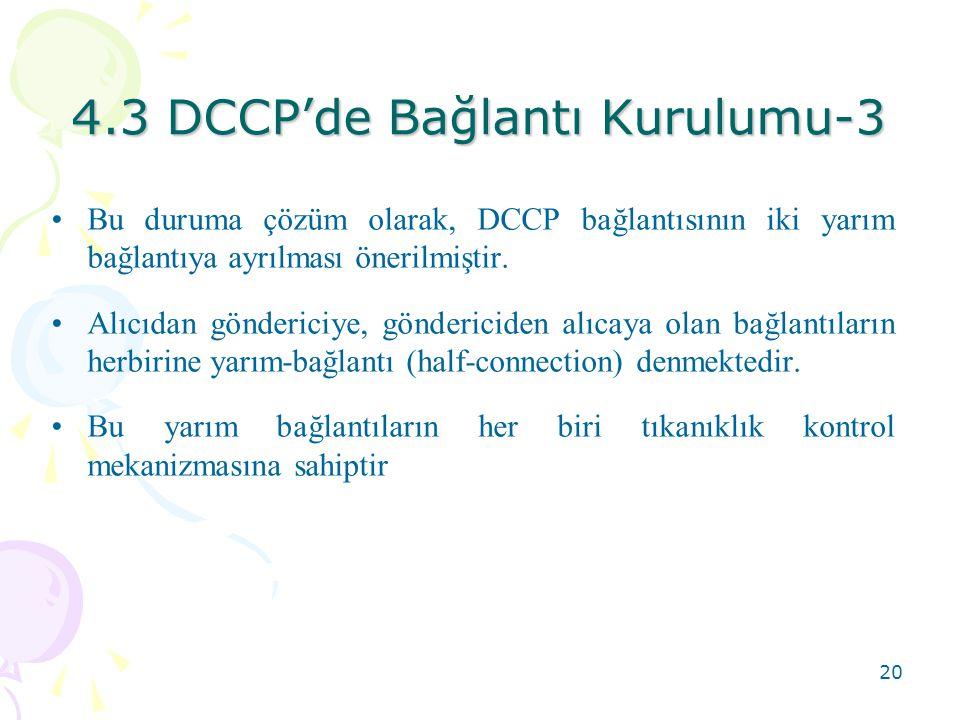 4.3 DCCP'de Bağlantı Kurulumu-3