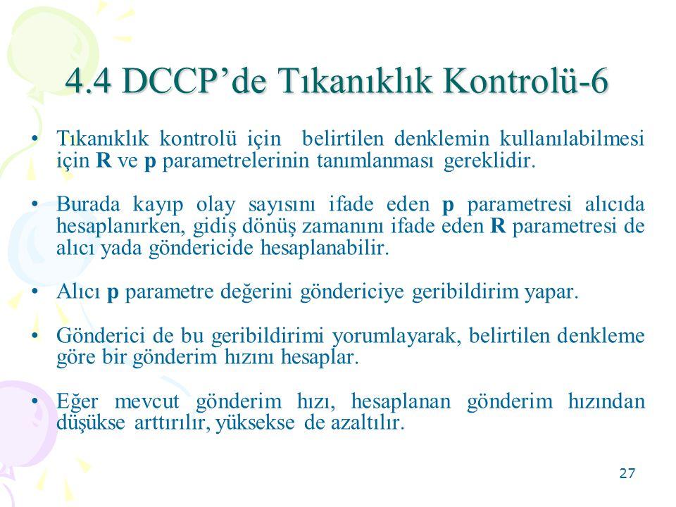 4.4 DCCP'de Tıkanıklık Kontrolü-6