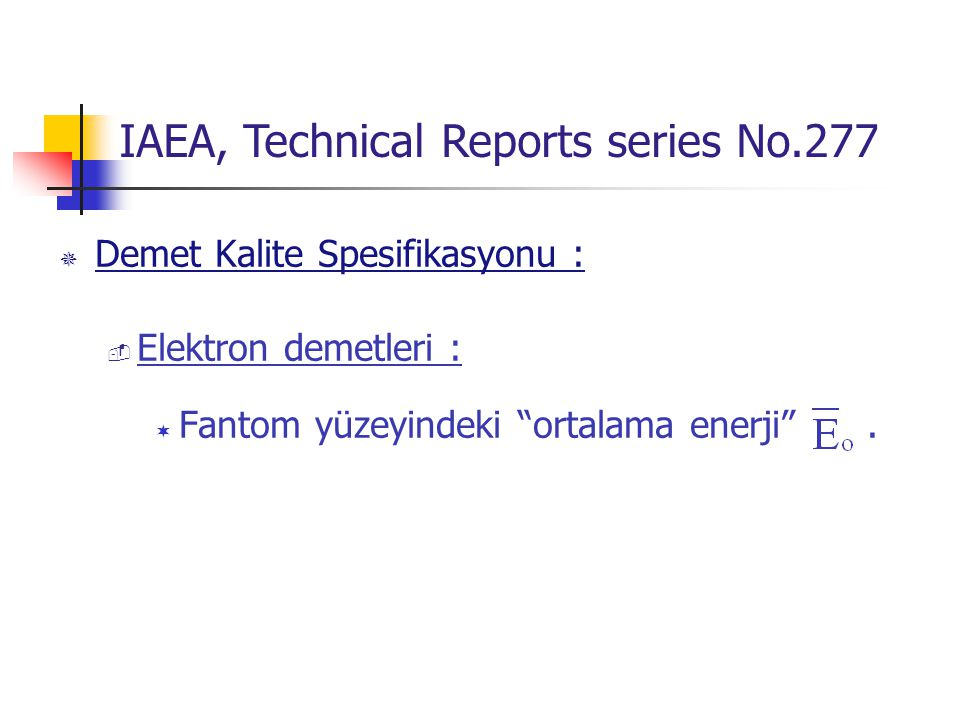 IAEA, Technical Reports series No.277