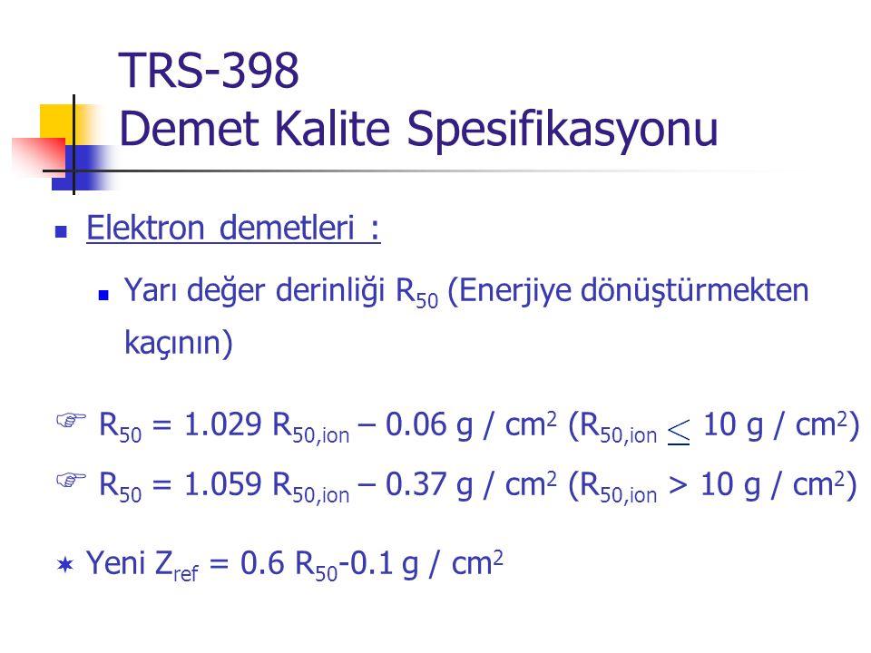 TRS-398 Demet Kalite Spesifikasyonu