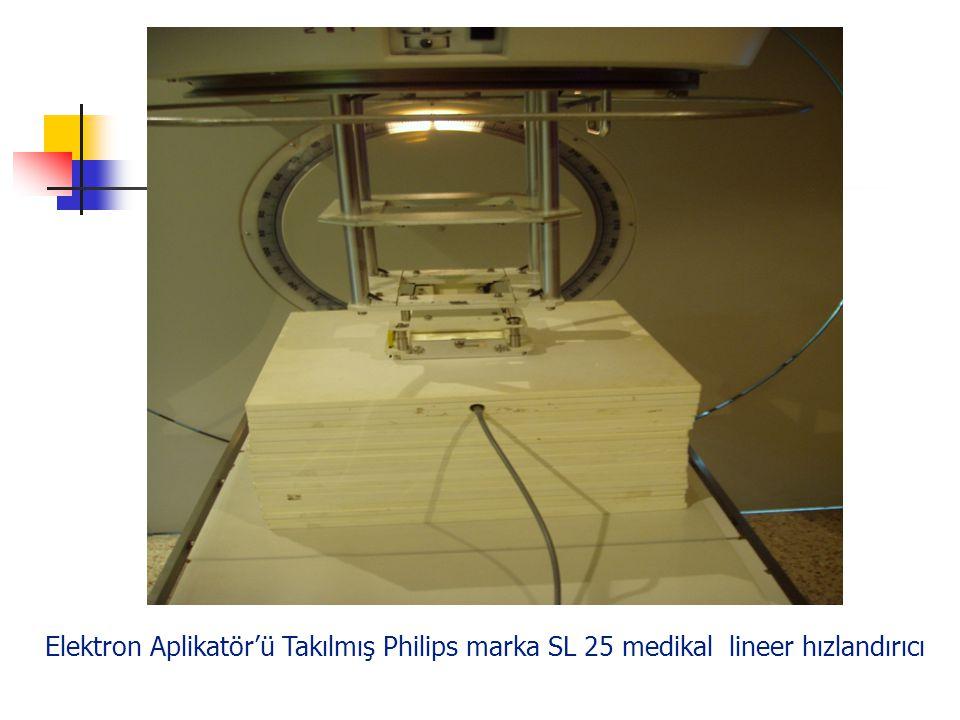 Elektron Aplikatör'ü Takılmış Philips marka SL 25 medikal lineer hızlandırıcı