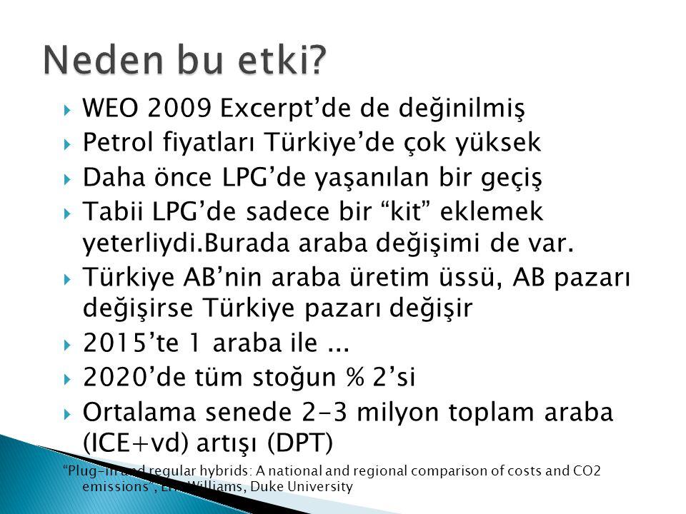 Neden bu etki WEO 2009 Excerpt'de de değinilmiş