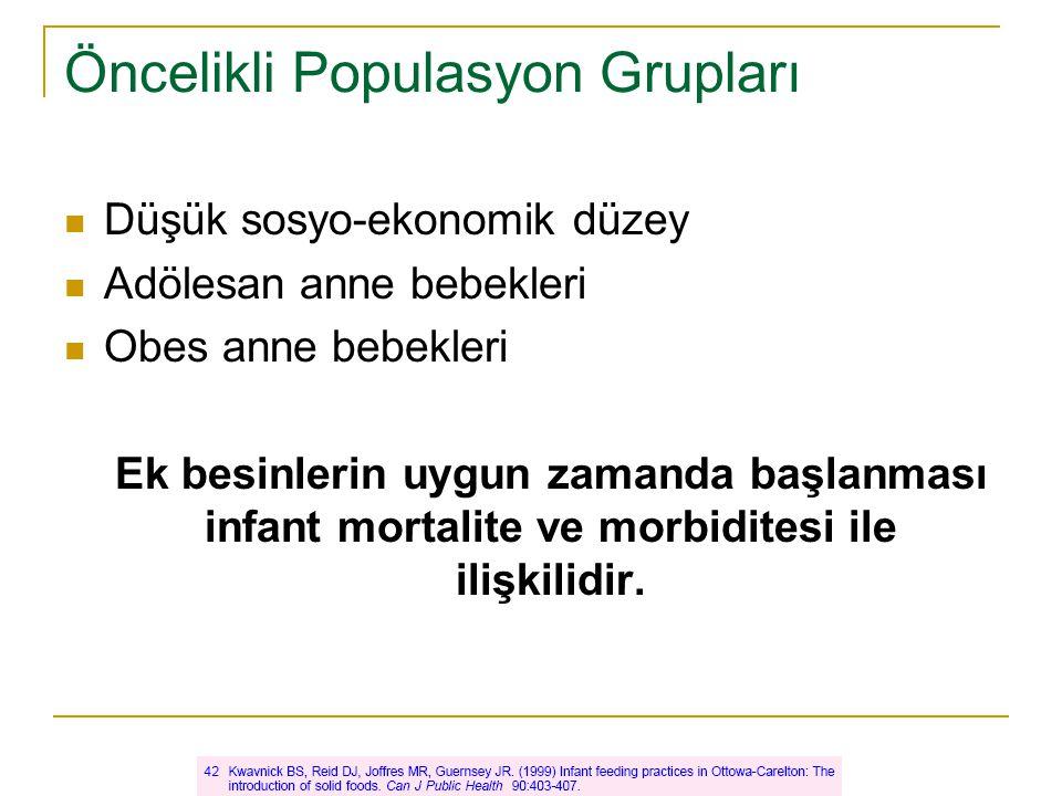 Öncelikli Populasyon Grupları