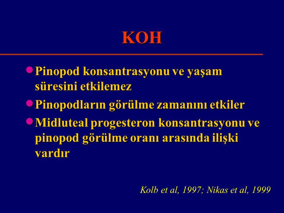 KOH Pinopod konsantrasyonu ve yaşam süresini etkilemez