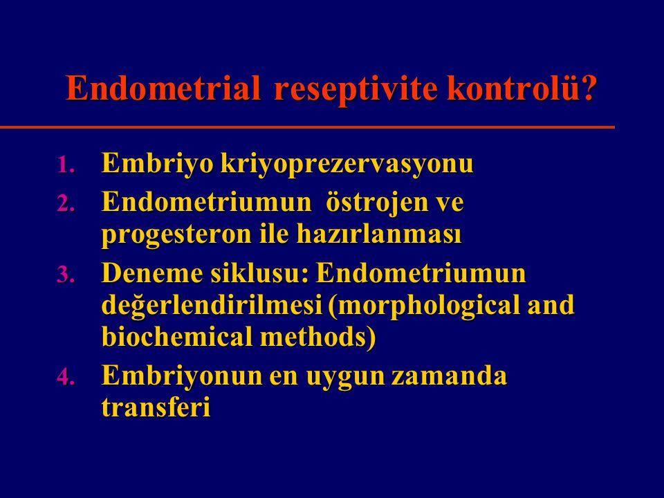 Endometrial reseptivite kontrolü