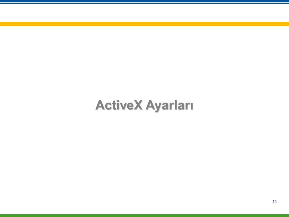 ActiveX Ayarları
