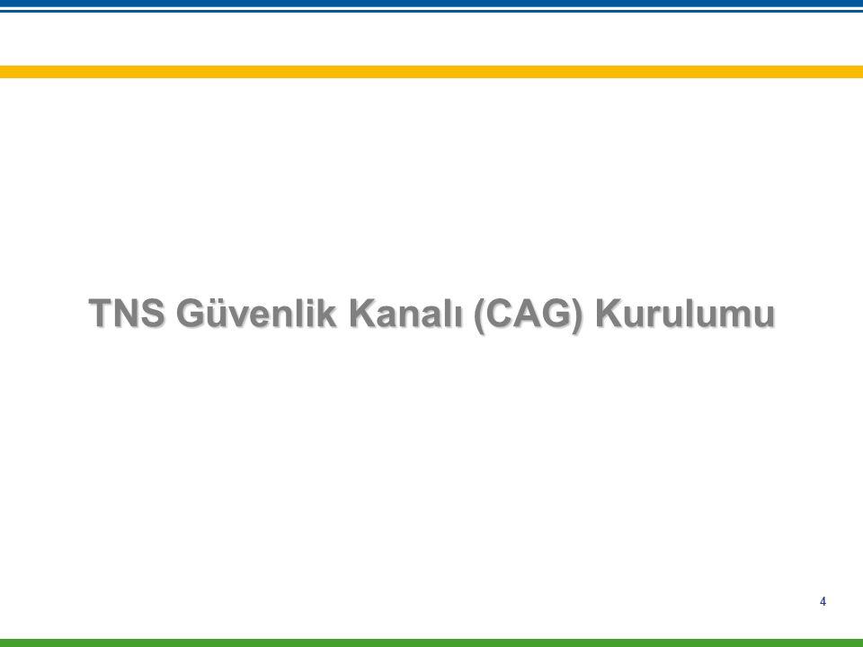 TNS Güvenlik Kanalı (CAG) Kurulumu