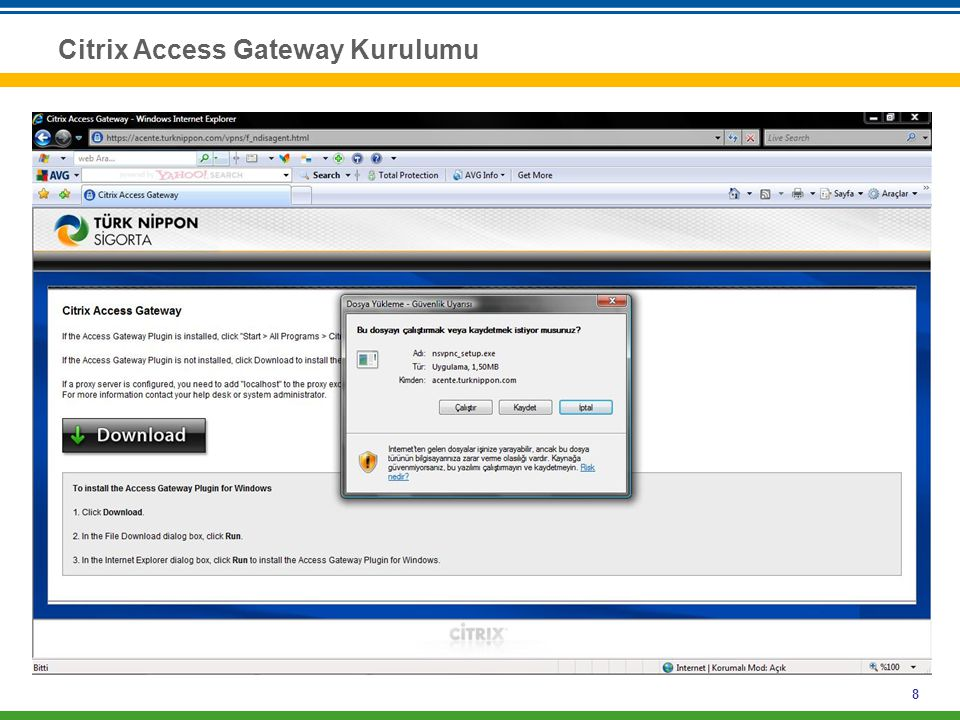 Citrix Access Gateway Kurulumu
