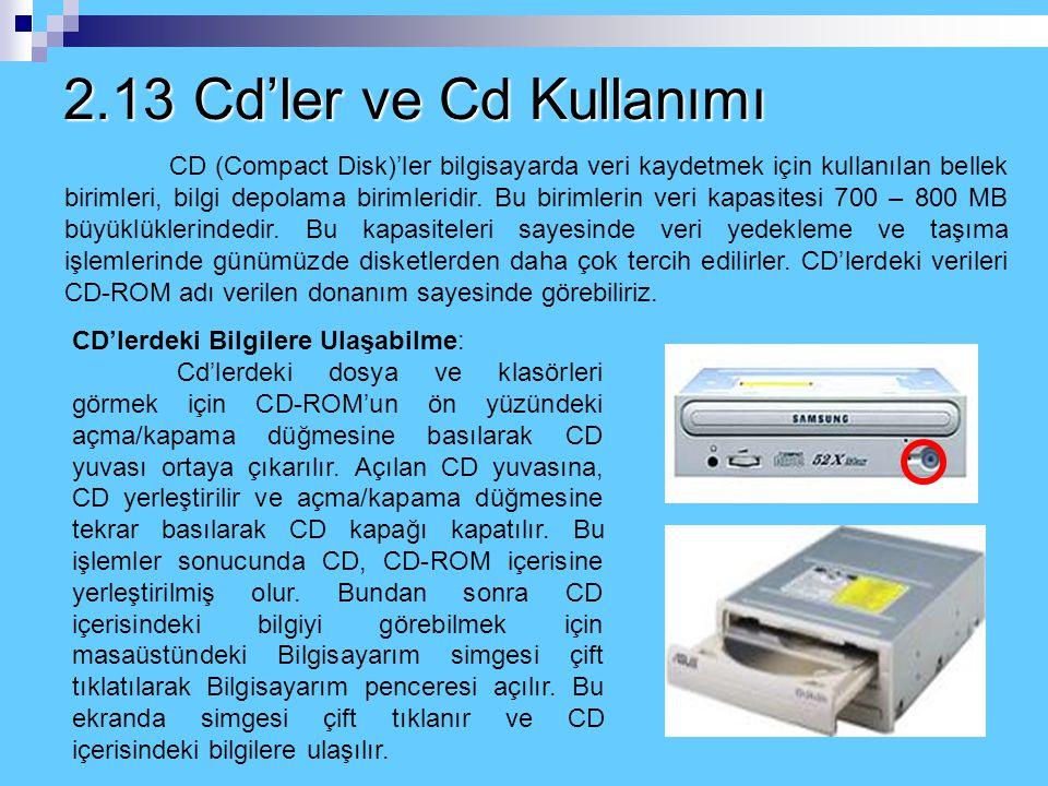 2.13 Cd'ler ve Cd Kullanımı