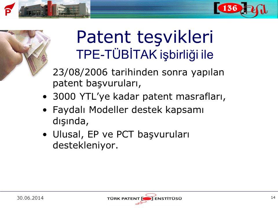 Patent teşvikleri TPE-TÜBİTAK işbirliği ile