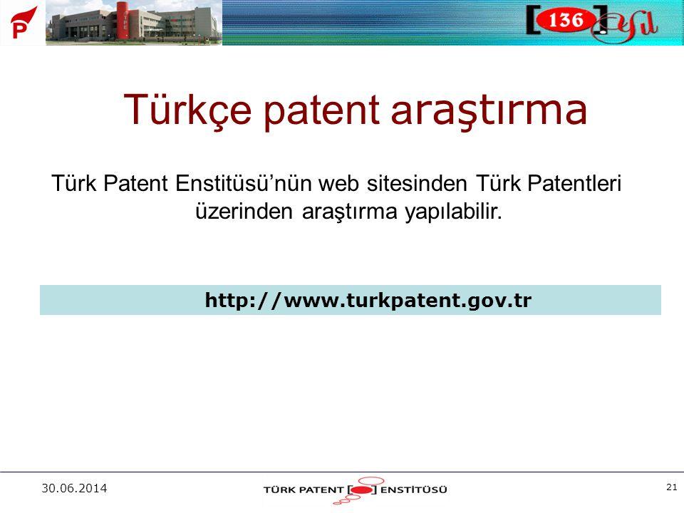 Türkçe patent araştırma