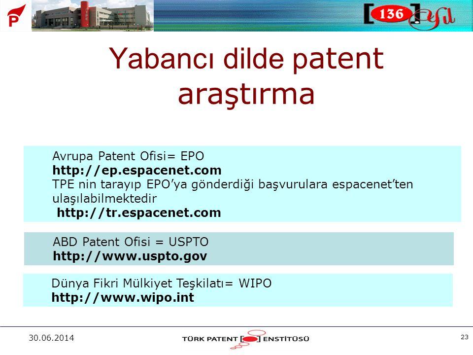 Yabancı dilde patent araştırma